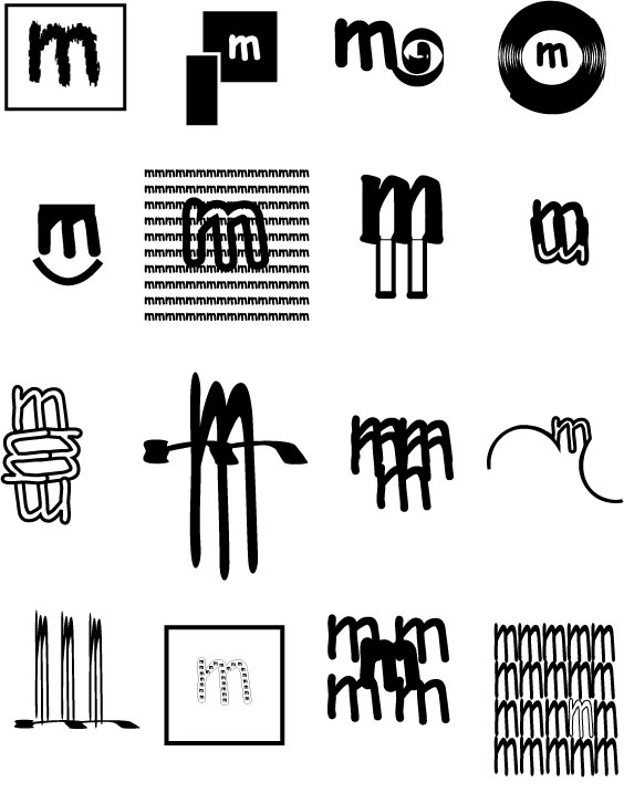 These Are Logos That I Came Up With Only Using The Letter M Typeface Is Comics Sans Used Different Types Of Styles To Showcase